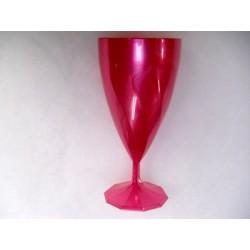 verrerie : décagonale fuchsia , 6 verres à eau