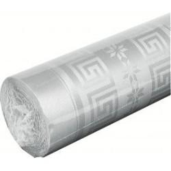 nappe damassée 1,2 x 6m argent