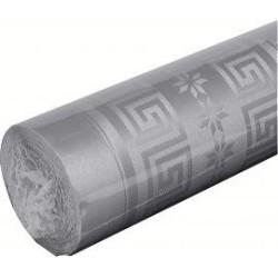 nappe damassée 1,2 x 25m gris