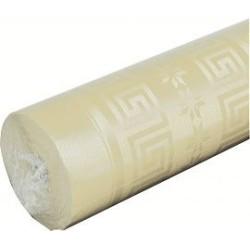 nappe damassée ivoire 1,2 x 6m