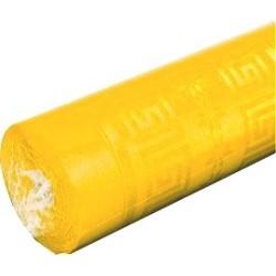 nappe damassée jaune citron 1,2 x 25m