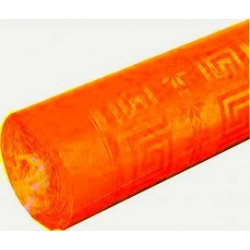 nappe damassée 1,2 x 6m orange (mandarine)