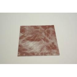 serviettes imitation tissu 40 x 40 cm plume chocolat  (les 50)