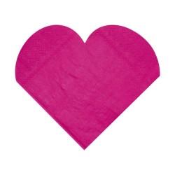 serviettes forme coeur ouate 20 pcs 10.5 x 10.5cm