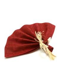 serviettes imitation tissu 40 x 40 cm floralie bordeaux (les 50)