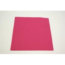 25 serviettes imitation tissu 40 x 40 cm fuchsia