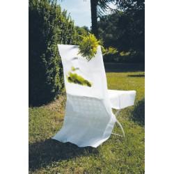 nappage : housses de chaise blanches les 10