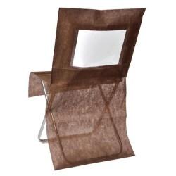 nappage : housses de chaise chocolat les 10