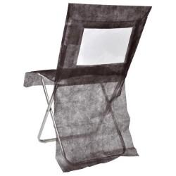 nappage : housses de chaise noire les 10