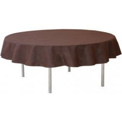 nappage nappe chocolat pour table ronde 240cm 1. Black Bedroom Furniture Sets. Home Design Ideas