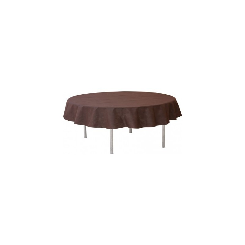 nappage nappe chocolat pour table ronde 240cm 1 polystyr ne. Black Bedroom Furniture Sets. Home Design Ideas