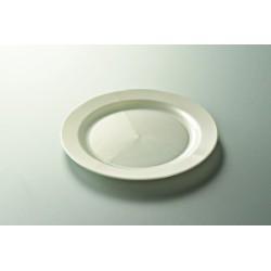 vaisselle : 12 assiettes rondes 24 cm blanche