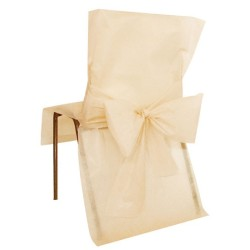 nappage : housse de chaise par 10 avec noeuds
