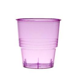 Verrerie : 10 verres fuschia 25cl