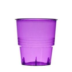 Verrerie : 10 verres lilas / parme 25cl