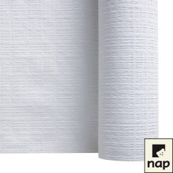 nappe papier gaufrée blanc toile de lin 1,2 x 70m