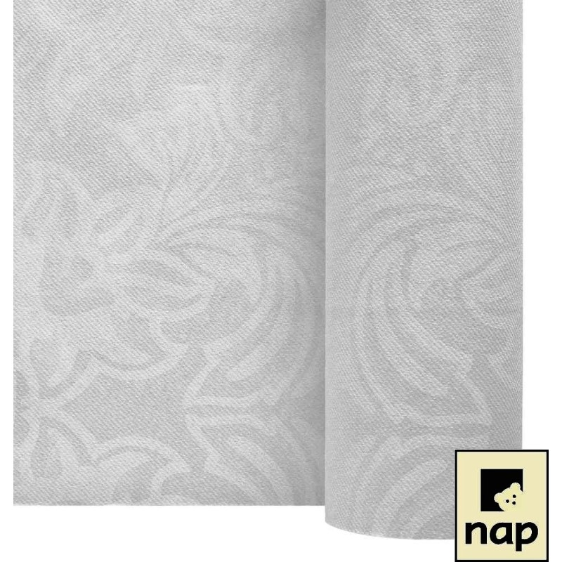 nappe imitation tissu floralie blanc 1 2 25m 1 polystyr ne. Black Bedroom Furniture Sets. Home Design Ideas