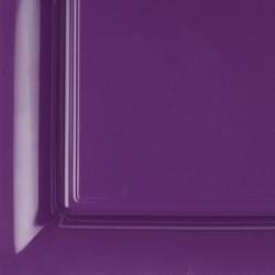 vaisselle : 12 assiettes carrées 21.5 cm violet
