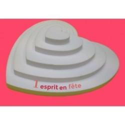 plateau polystyrène : pyramide cœur 5 étages de 50 à 10cm