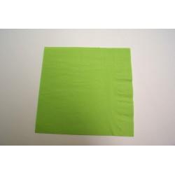 100 serviettes ouate lisse 38x38 cm 2 feuilles vert anis