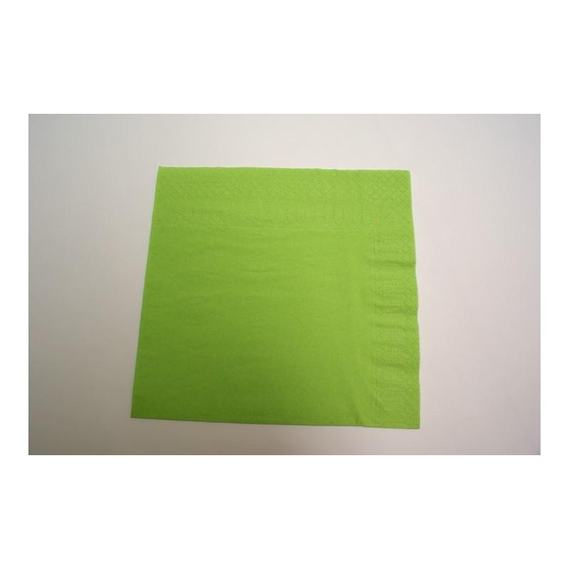 Serviette jetable en papier ouate lisse 38 38cm 2 plis vert anis - Serviette en papier vert fonce ...