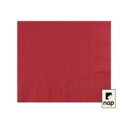 serviettes ouate 20 x 20 cm bordeaux (les 100)