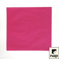 serviettes ouate 20 x 20 cm framboise (les 100)