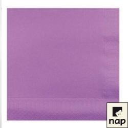 serviettes ouate 20 x 20 cm lilas (les 100)