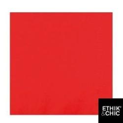 serviettes ouate 20 x 20 cm rouge (les 100)