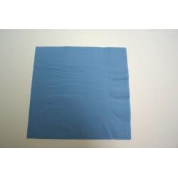 100 serviettes ouate lisse 38 x 38 cm 2 feuilles bleu ciel