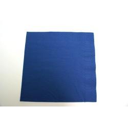 100 serviettes ouate lisse 38 x 38 cm 2 feuilles bleu marine