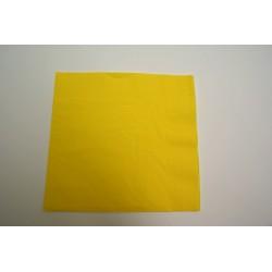 serviettes ouate 39 x 39 cm jaune citron (les 100)