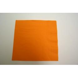 serviettes ouate 39 x 39 cm orange (mandarine) (les 100)