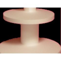 réhausse polystyrène : socle rond 100x100x100 mm