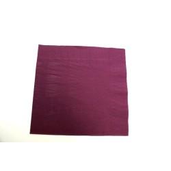 100 serviettes ouate lisse 38*38cm 2 feuilles violet