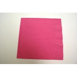 100 serviettes ouate lisse 39x39cm 2 feuilles fuchsia