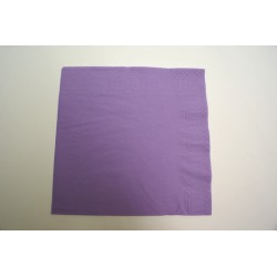 serviettes ouate 39 x 39 cm lilas (parme) (les 100)