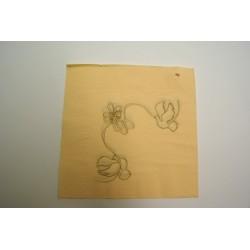 serviettes ouate 39 x 39 cm amoureux ivoire (les 100)