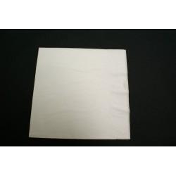 100 serviettes ouate lisse 38 x 38 cm blanche