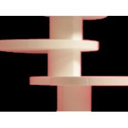 Réhausse polystyrène : colonne cœur 10 cm x 10 cm