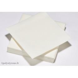 900 serviettes tendance cocktail 25x25cm blanc