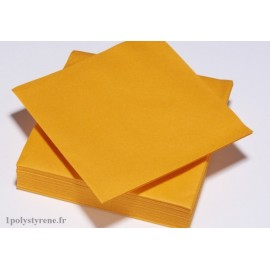 50 serviettes tendance cocktail 25x25cm mandarine