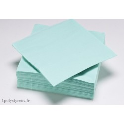 50 serviettes tendance cocktail 25x25cm aqua