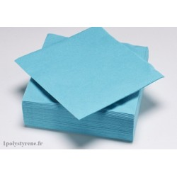 50 serviettes tendance cocktail 25x25cm bleu