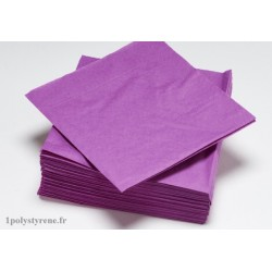 50 serviettes tendance cocktail 25x25cm fuchsia