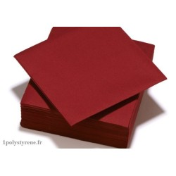 50 serviettes tendance cocktail 25x25cm rouge