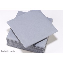 50 serviettes tendance cocktail 25x25cm gris