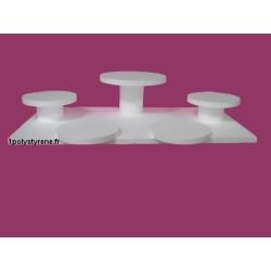 plateau ronds 5 gâteaux (1 en 40 cm et 4 en 30 cm)