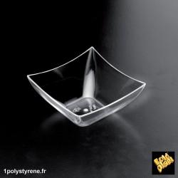 500 Coupelles Carrées 9cl transparente ref 6006-21