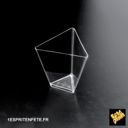 500 Coupelles Triangle  7cl transparente ref 6003-21
